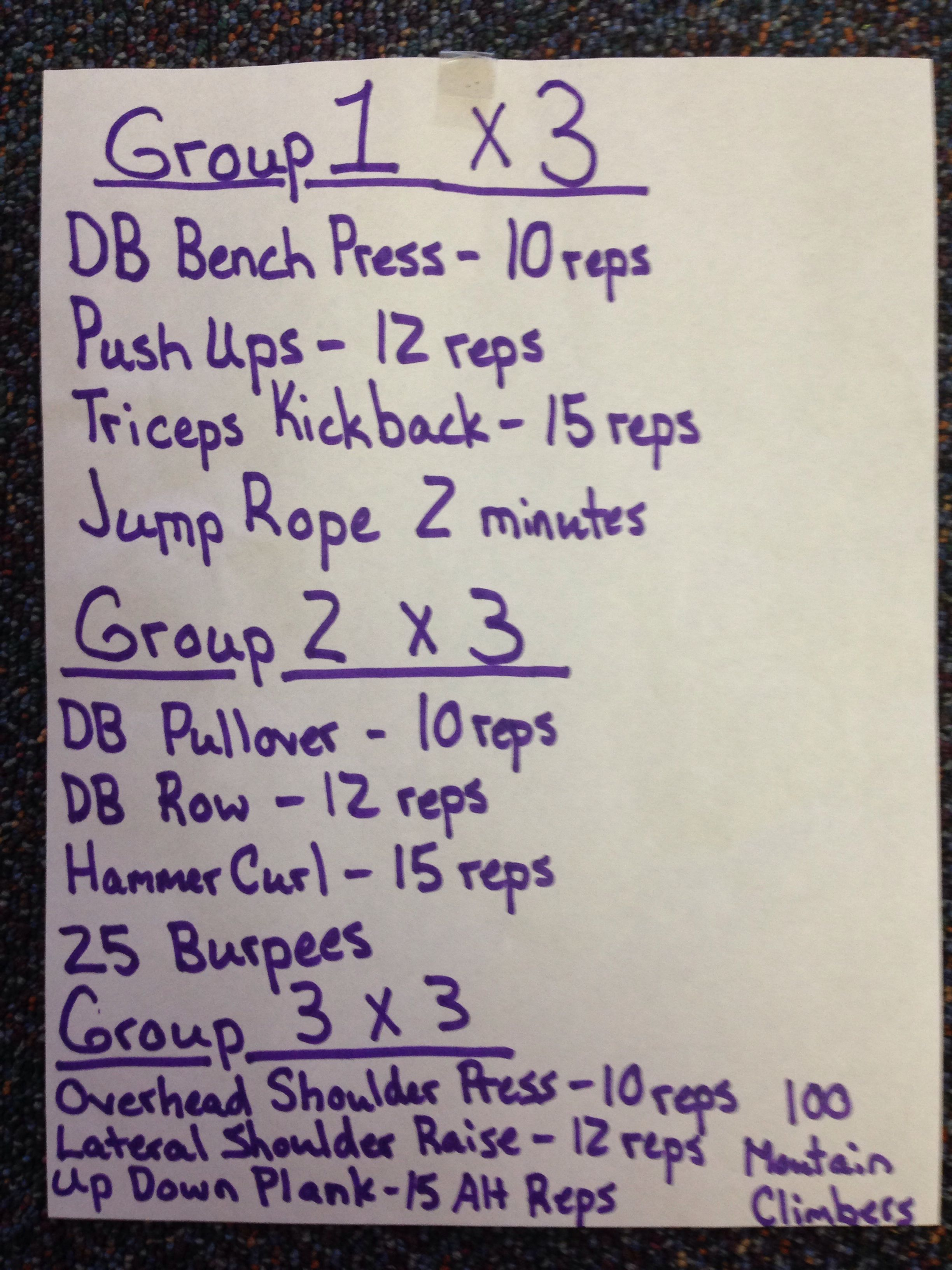 Upper Body Dumbbell Circuit Workout Pinterest Full Dumbell Pictures Photos And Images For