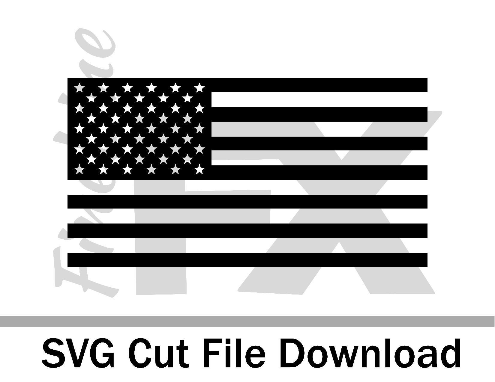 USA American Flag SVG instant download / craft cutting file