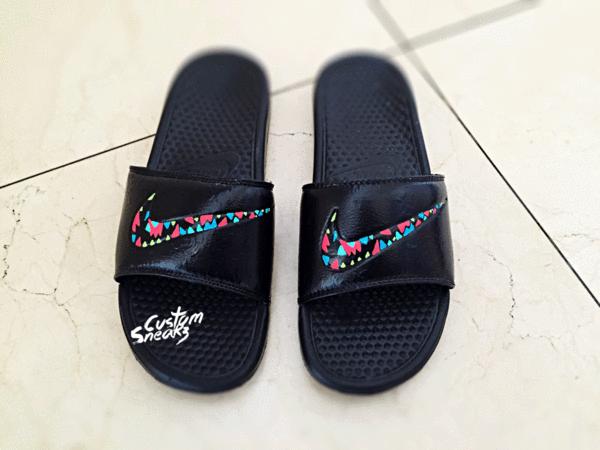 the latest c9c5a 66048 Louboutin High Heels, Christian Louboutin, Nike Benassi, Nike Slippers,  Custom Shoes,