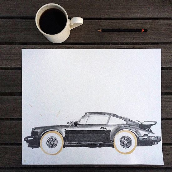 Impressive Illustrations Made with Coffee Stain | The Design Inspiration
