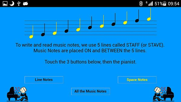 FREE on GOOGLE PLAY https://play.google.com/store/apps/details?id=com.happynote.staffandtrebleclef&hl=en A mini online INTERACTIVE tutorial to learn about G (treble) clef and the place of the music notes on the Staff.