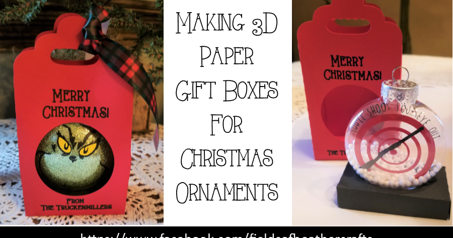 Making 3D Paper Gift Boxes For Christmas Ornaments Paper