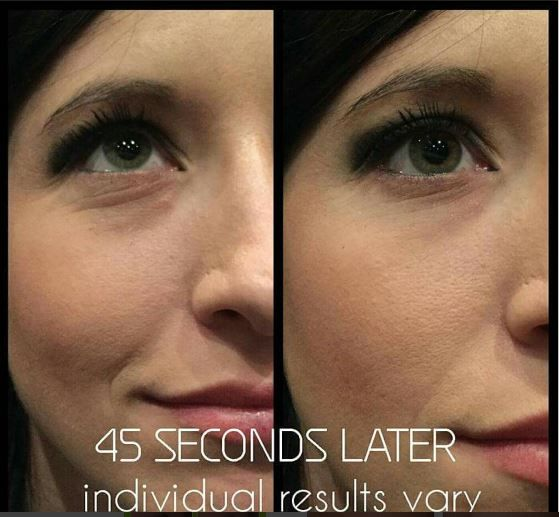 734a69cb5ef Wipe Out Wrinkles, fine lines, crows feet, creases and under eye  bags/puffiness with It Works WOW!! Feel results in 45 minutes...See results  45 seconds ...