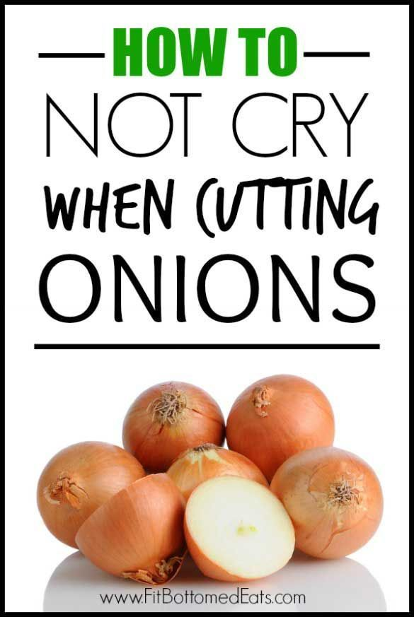 Don't cry! Top Chef Fabio Viviani lets us in on the secret on how to not cry when cutting those delicious onions!   Fit Bottomed Eats