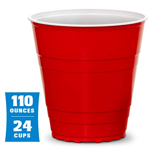 Amazon Com Gobig 110oz Giant Red Party Cups 24 Pack With 4 Xl 3 Pong Balls Giant Cups For Beer Pong Flip Cup Or Nove Party Cups Red Party Giant Beer Pong