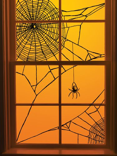 martha stewart crafts halloween window clings spiderweb corner - Window Clings Halloween