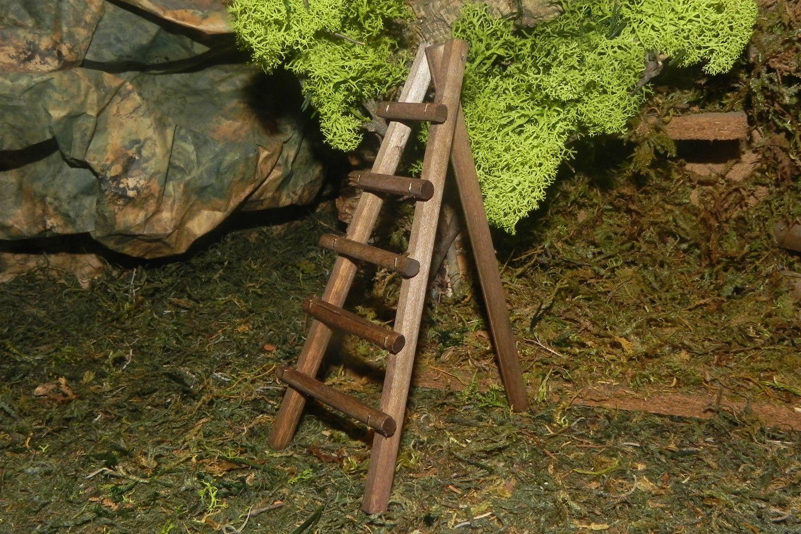 Wooden Ladder Nativity Village Accesorio Pellegrini Pesebre Nacimientos