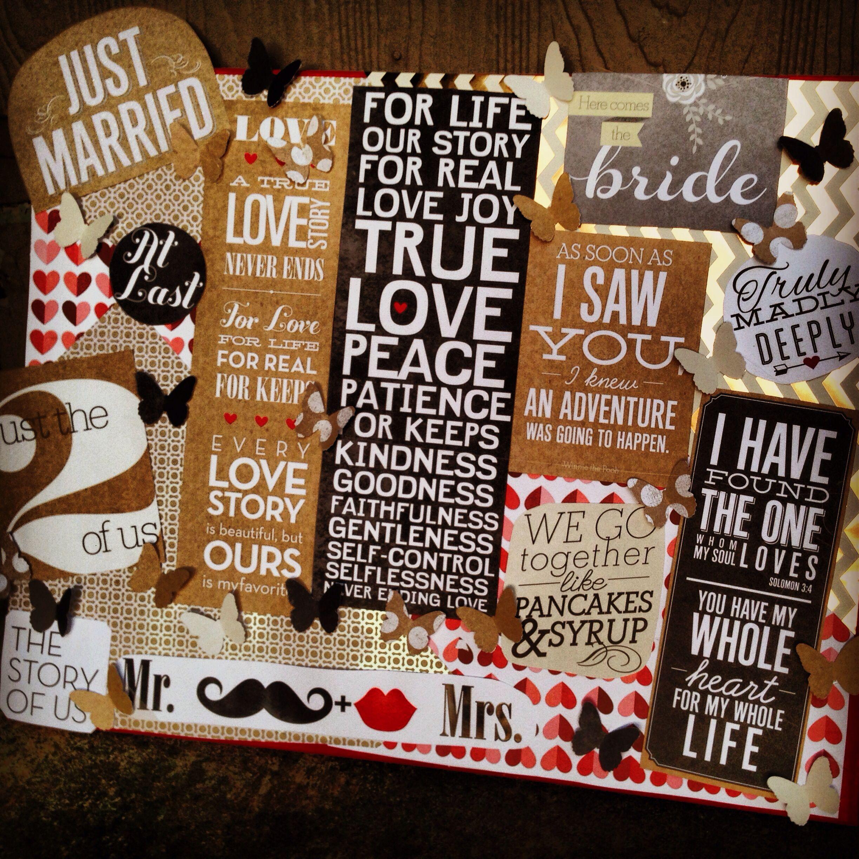 diy wedding gift for a friend! To remember! Diy wedding