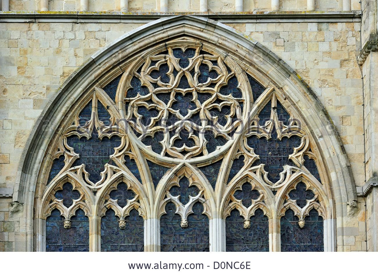 Bar Tracery In Gothic Window Of The Canterbury Cathedral Medieval D0NC6E JPEG Image 1300 X 955 Pixels