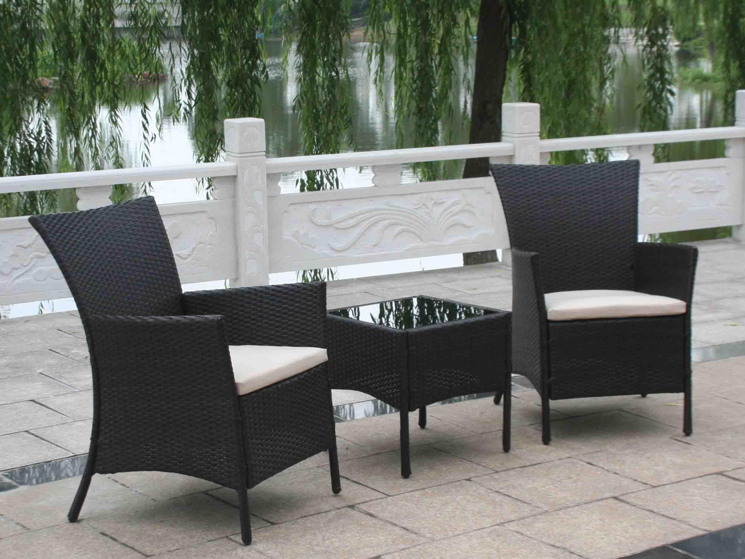 Black Resin Wicker Outdoor Furniture Cool Storage Furniture