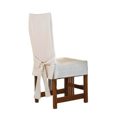 Sure Fit Cotton Duck Short Dining Chairs