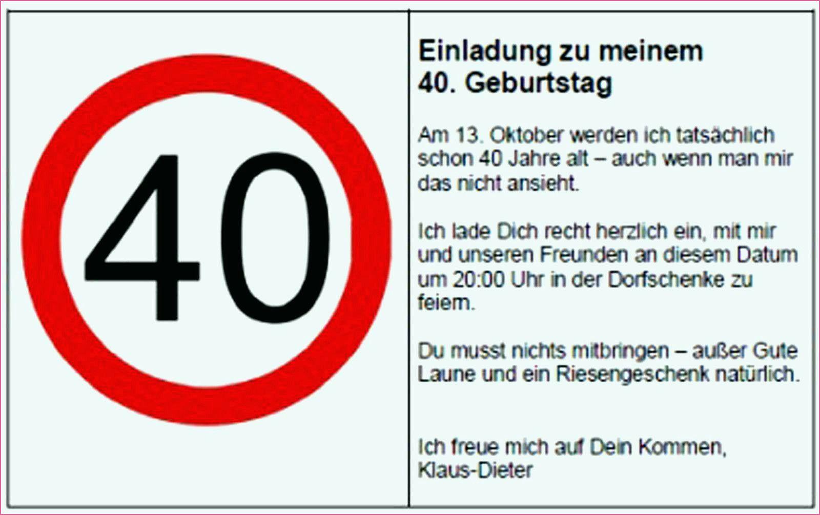 Einladung Zum 40 Geburtstag Gratis Karten