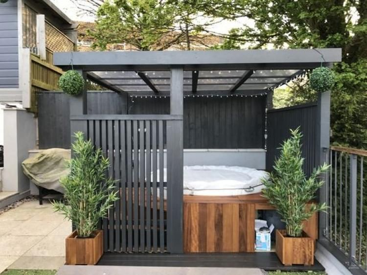 Clever Diy Hot Tub Gazebo Ideas For Winter Hot Tub Landscaping
