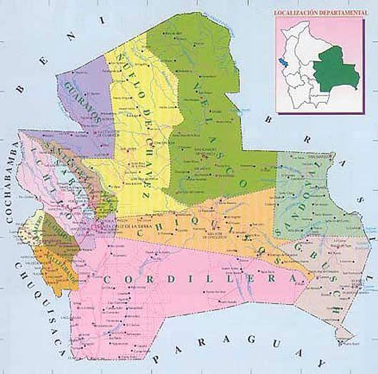 Mapa de Santa Cruz  Bolivia  Bolivia  Pinterest  Bolivia