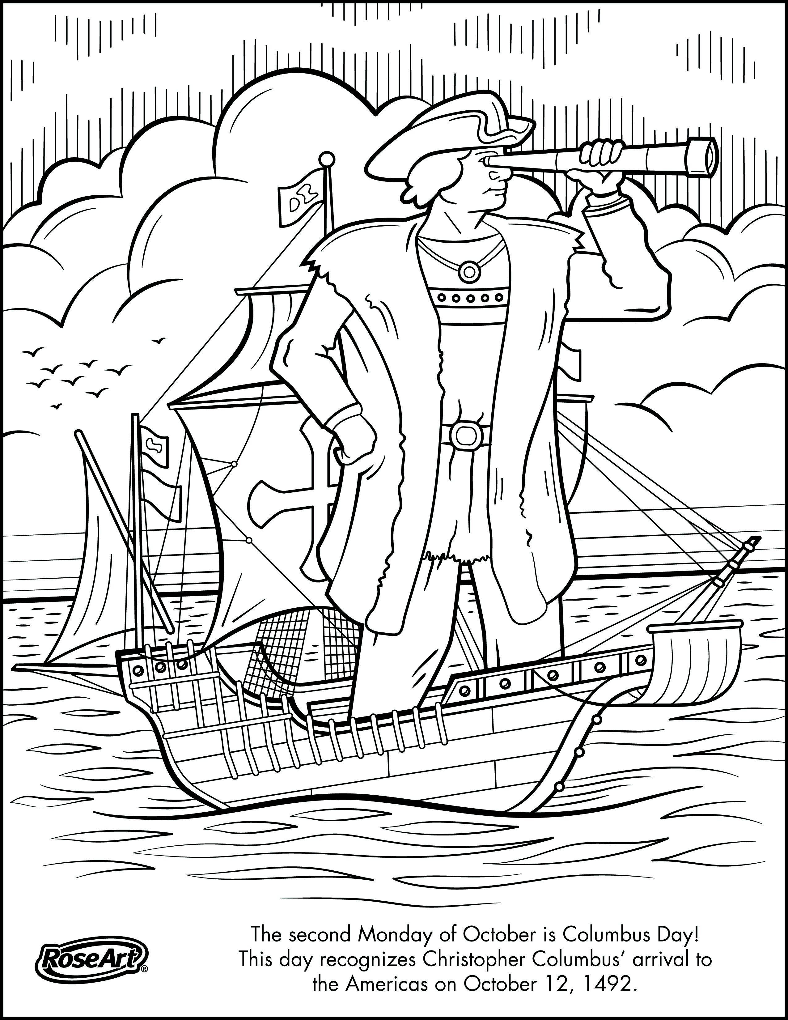 Worksheets Columbus Day Coloring Page – Columbus Day Worksheets