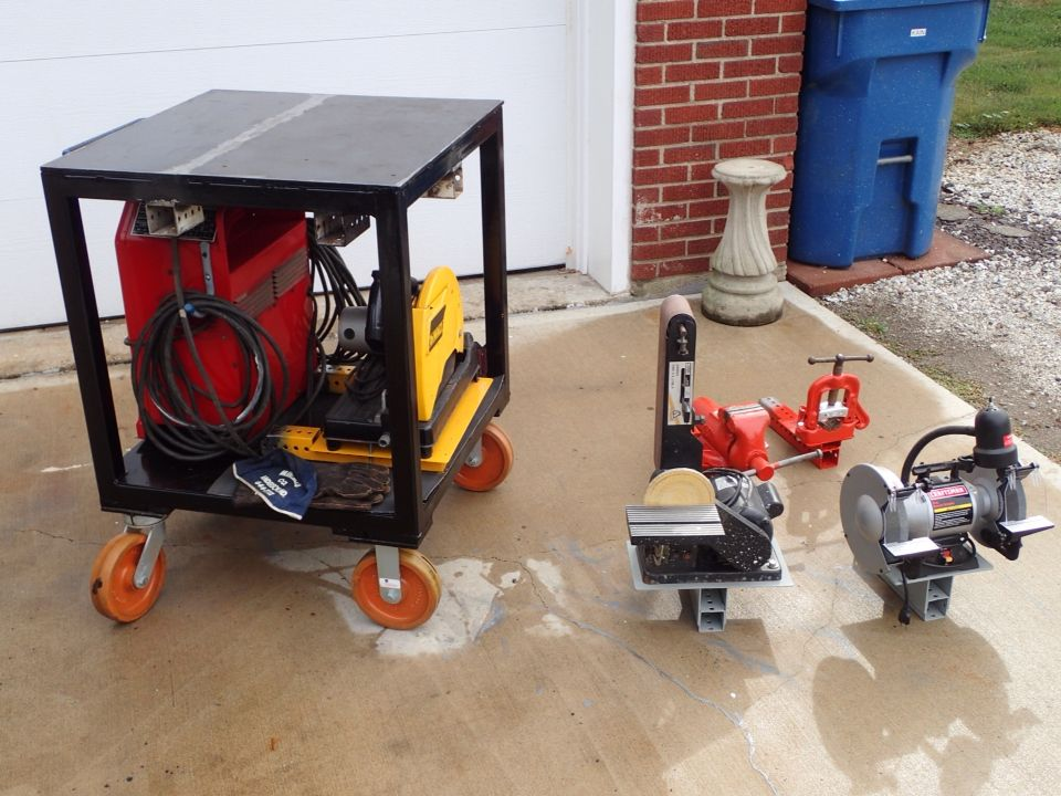 Portable Welding Table With Equipment Mounts Welding Projects Metal Working Projects Diy Welding