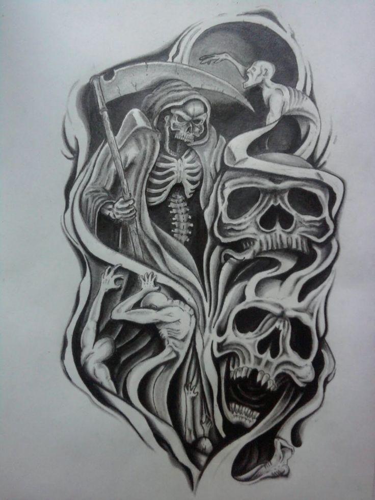Tribal Skull Tattoo Sleeve: Tribal Tattoo Half Sleeve Designs