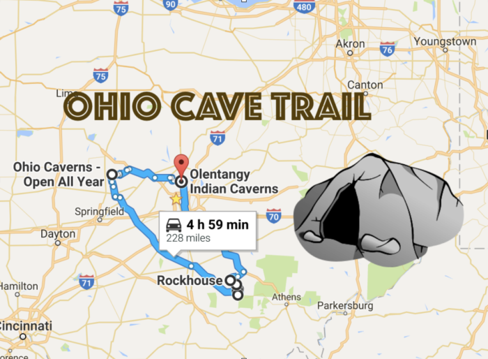 This Map Shows The Shortest Route To 7 Ohio s Most Incredible