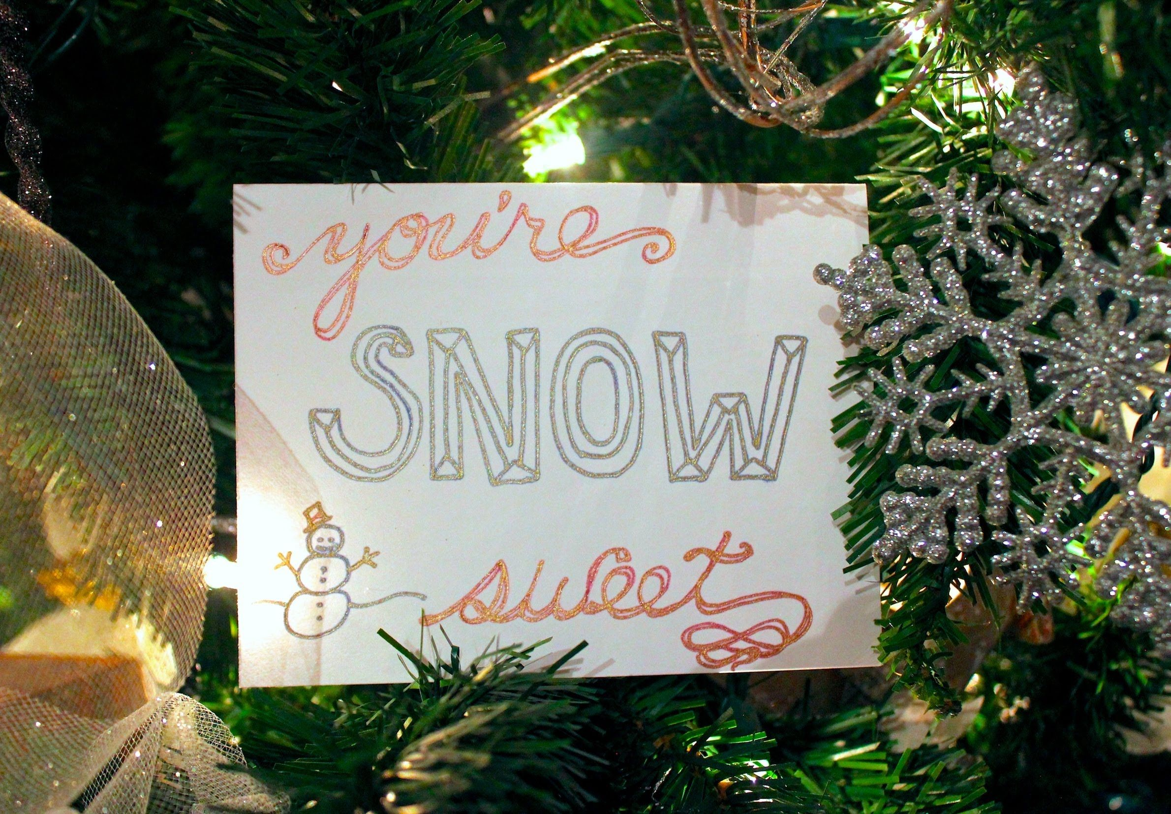 Make some quick and simple Christmas cards with Gelly Roll Gold