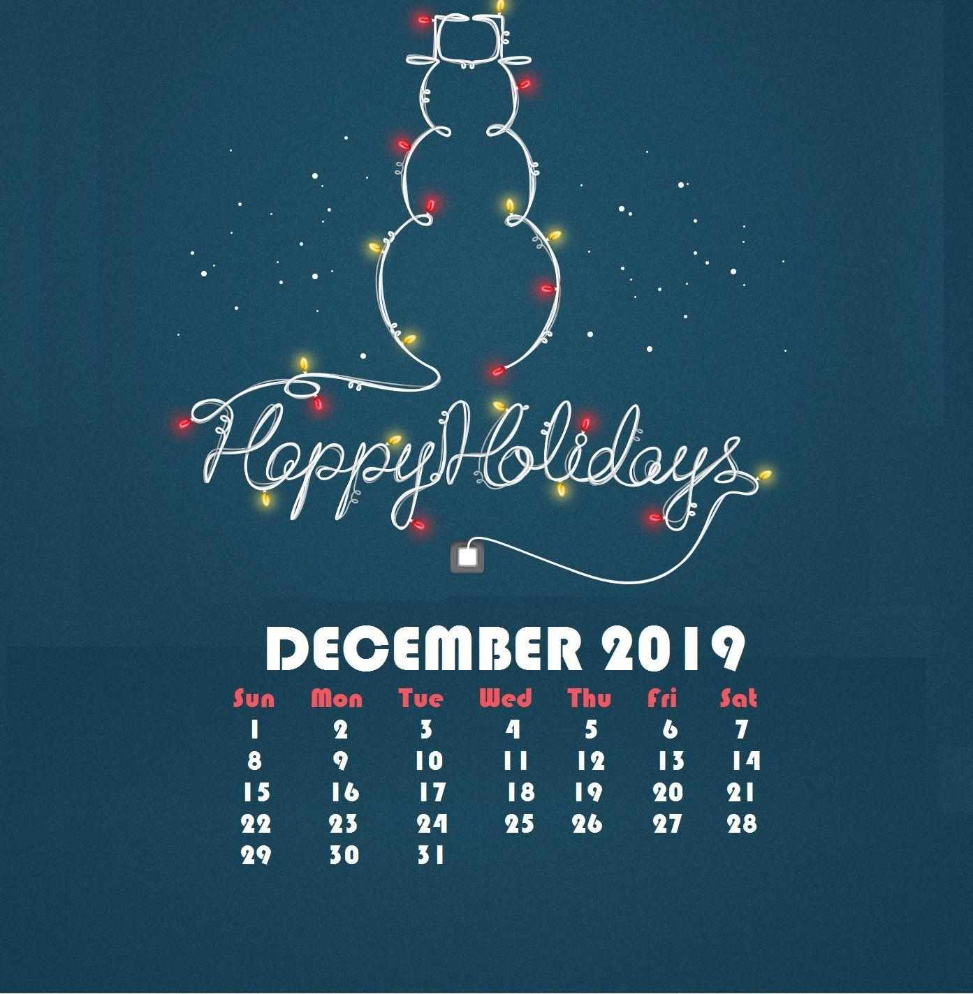 December 2019 iPhone Calendar Wallpapers Calendar