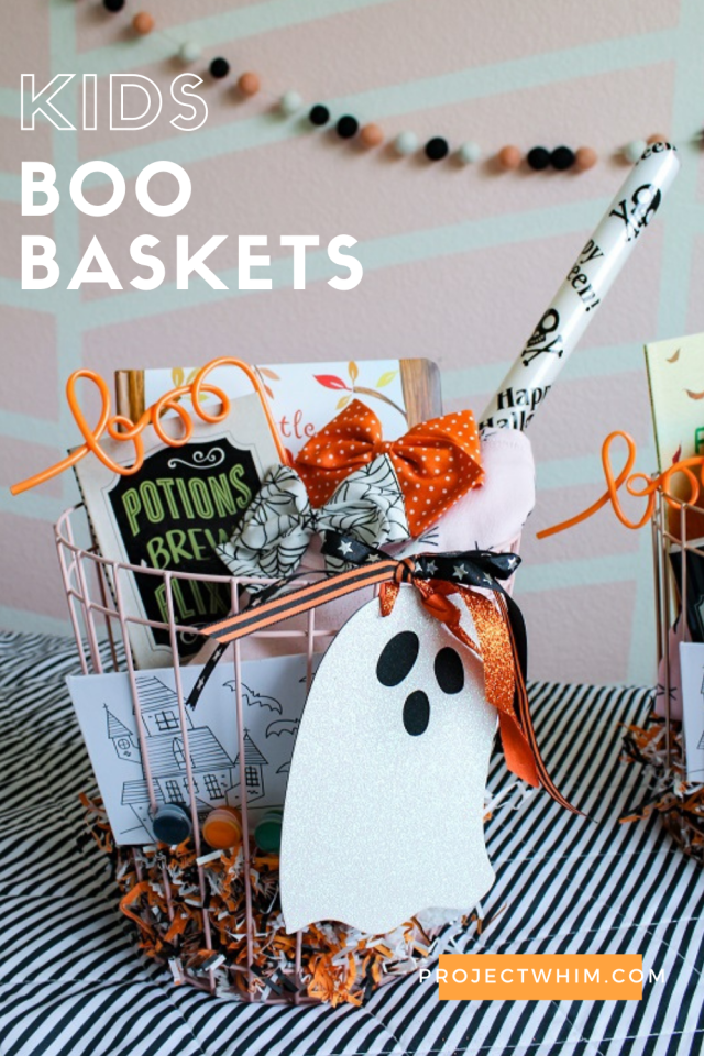 How to make Boo Baskets for Kids this Halloween. Halloween Themed Gift Basket Ideas. The Best Halloween Children's Books. Our Favorite Fall Themed Books for Kids. Kids Halloween Activities. Halloween Crafts for Kids. #halloween #kids #boobaskets #giftsforkids #halloweencostumes #activitiesforkids