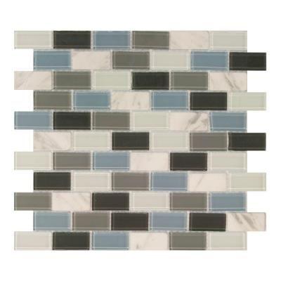 Popular Blue Gray Ash Brick Mosaic Tile Review - Amazing gray mosaic tile Amazing