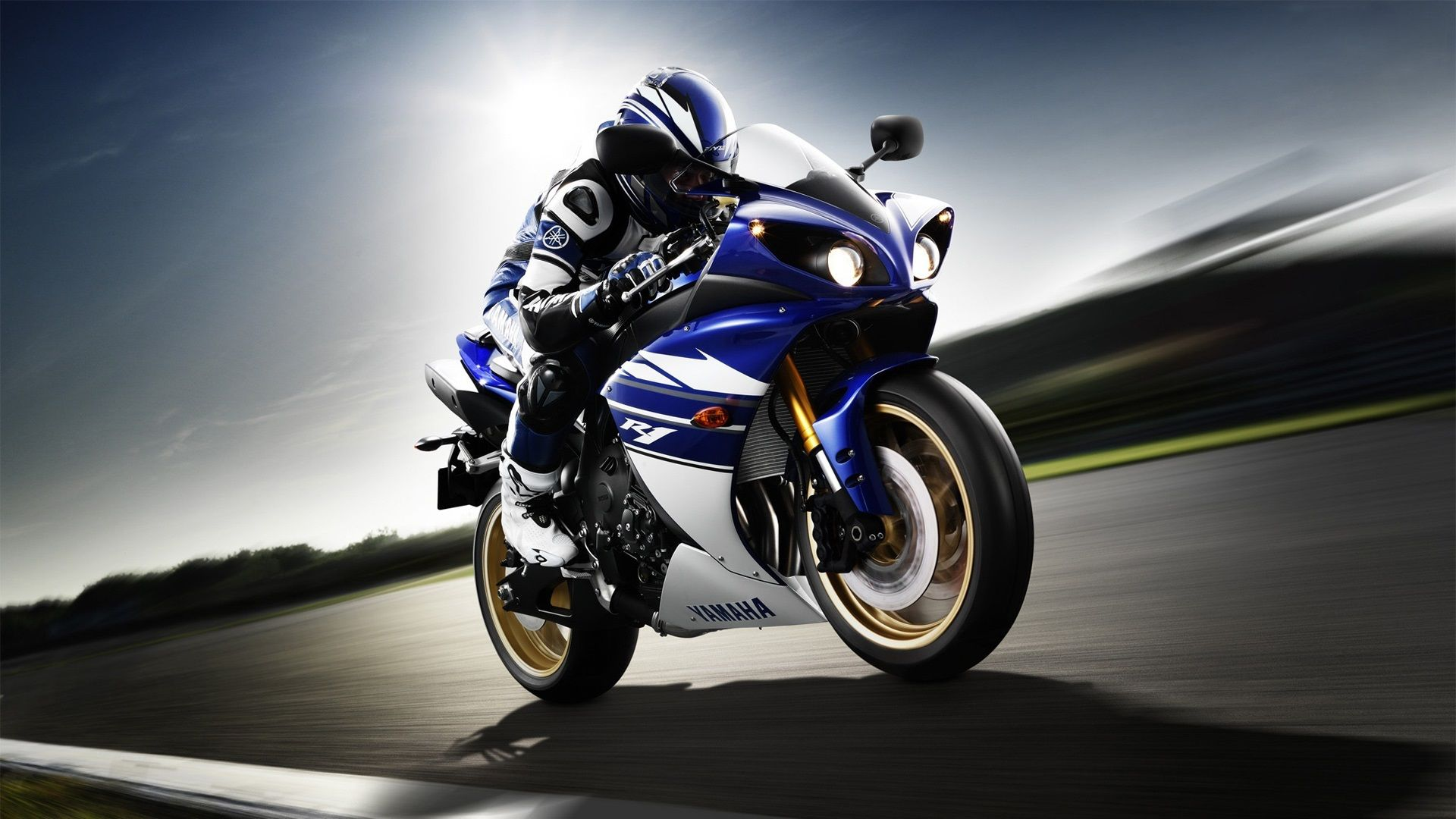 Yamaha Yzf R1 Motorcycle Rider Sport Bike Speed Wallpaper