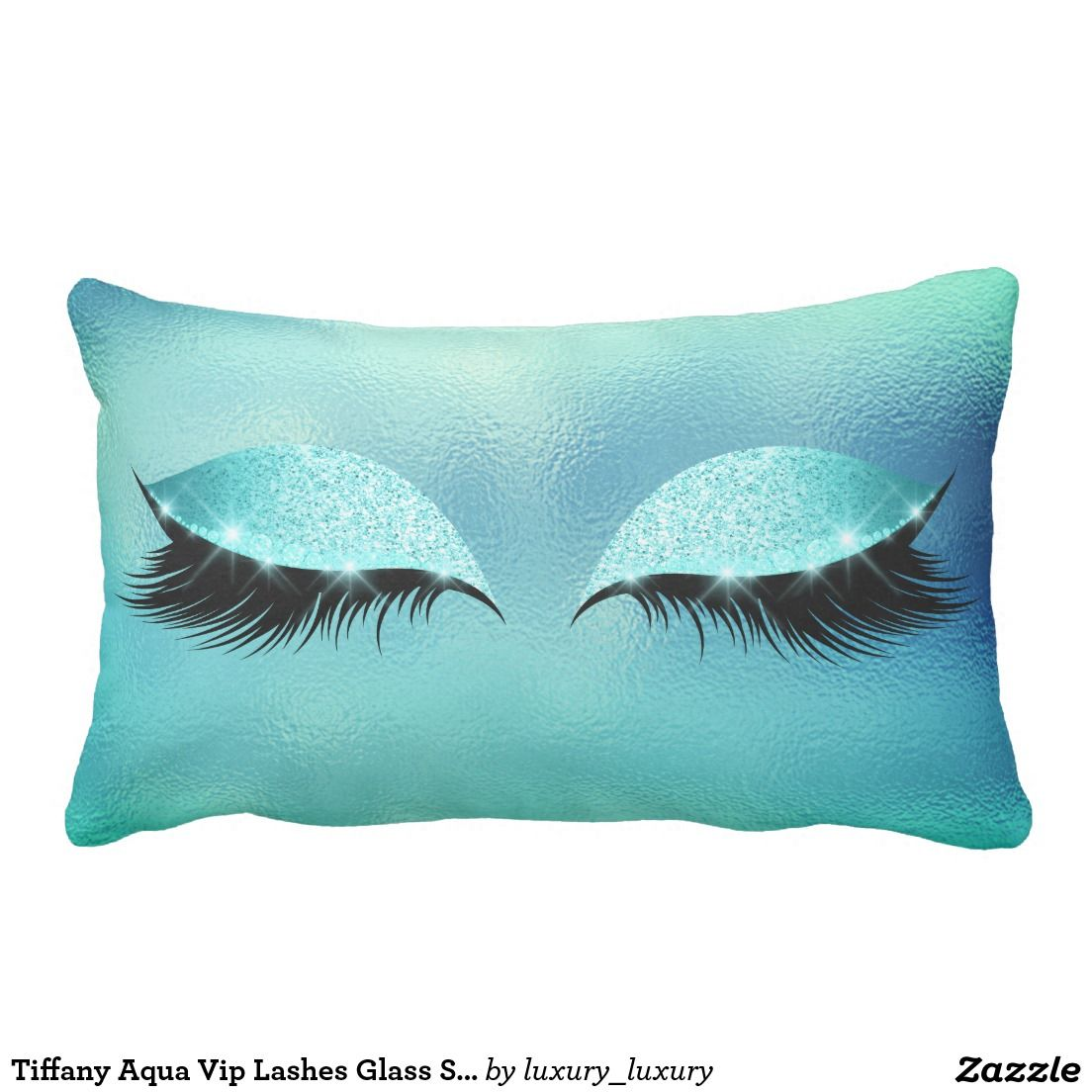 Cuscini Color Tiffany.Tiffany Aqua Vip Lashes Glass Sleep Glitter Makeup Lumbar Cushion