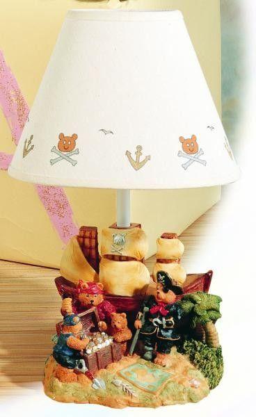"Treasure Island 14.25"" H Table Lamp with Empire Shade"