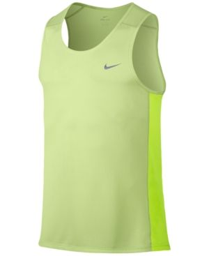 0cd22954f06a1 Nike Men s Breathe Miler Running Tank Top - Yellow XL