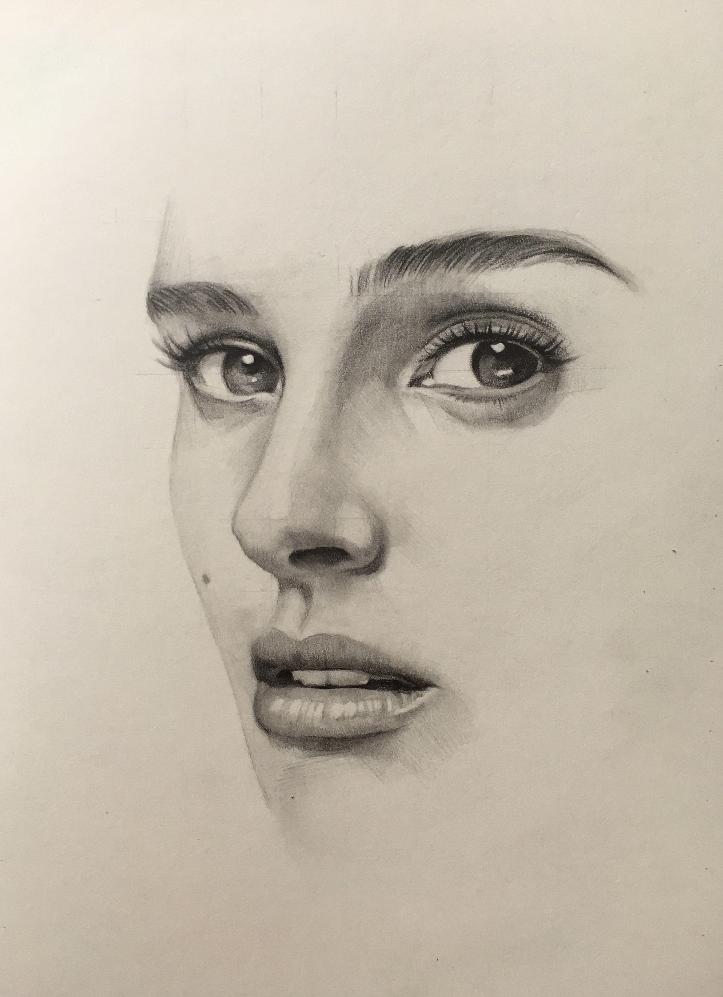 Pencil Portrait Mastery - Natalie Portman pencil drawing ...