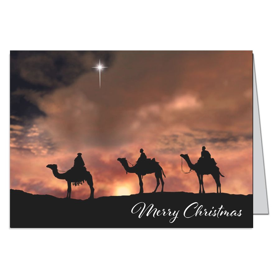 Three Wise Men Christmas Greeting Card Three Wise Men Christmas