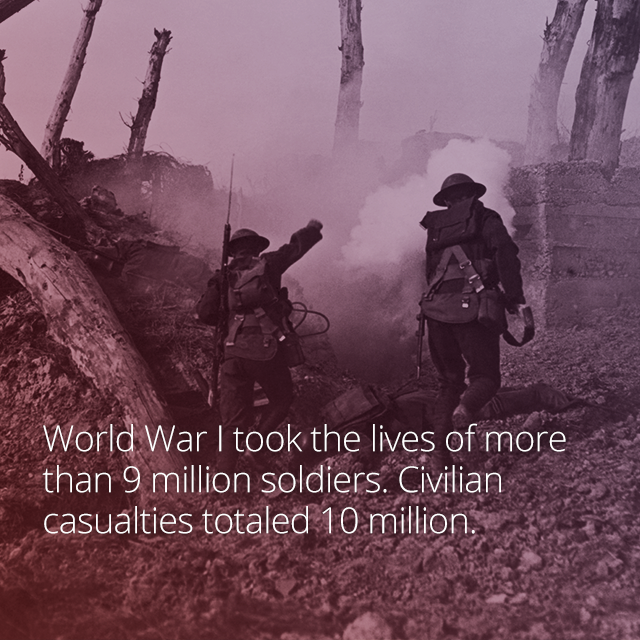 although it was one of the most violent events in history wwi had a moment