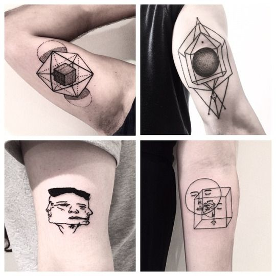 Errance Geometric Abstract Tattoo Handpoked Stick And Poke