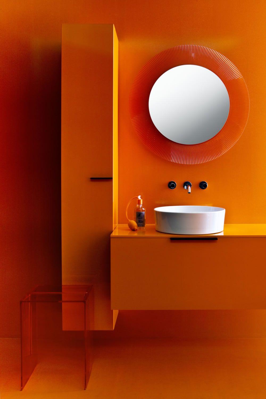 Bano Naranja Y Blanco