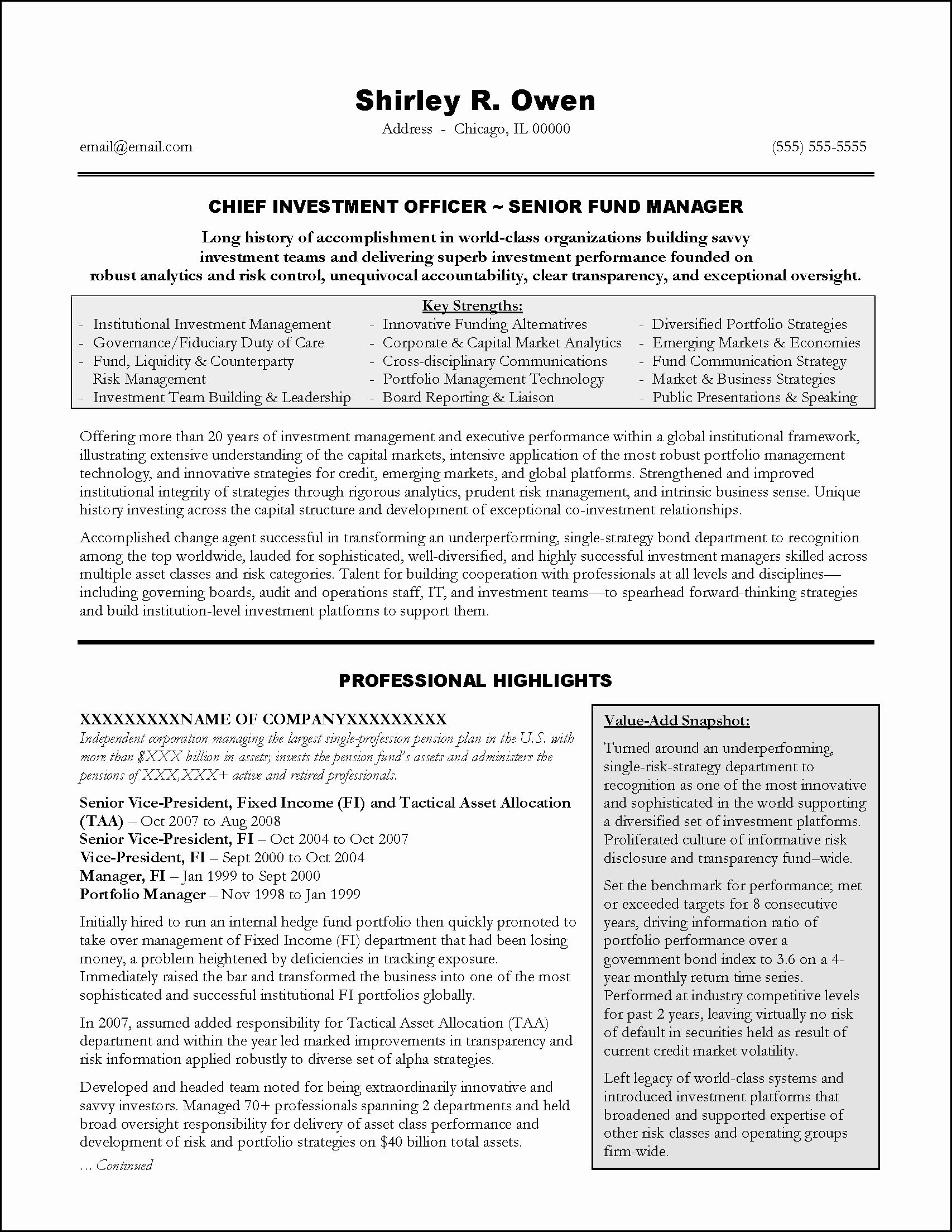 Investment Banking Resume Example Fresh Investment Banking Executive Resume Example In 2020 Executive Resume Resume Examples Good Resume Examples