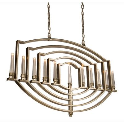 Artcraft Lighting Perceptions 11 Ligh Candle-Style Chandelier Finish: Silver Leaf