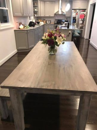 Custom Rustic Farmhouse Kitchen Table for Sale
