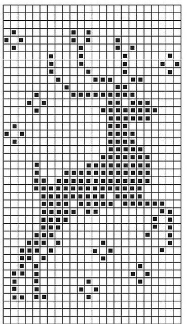 Chart for christmas jumper 2013 #filetcrochet