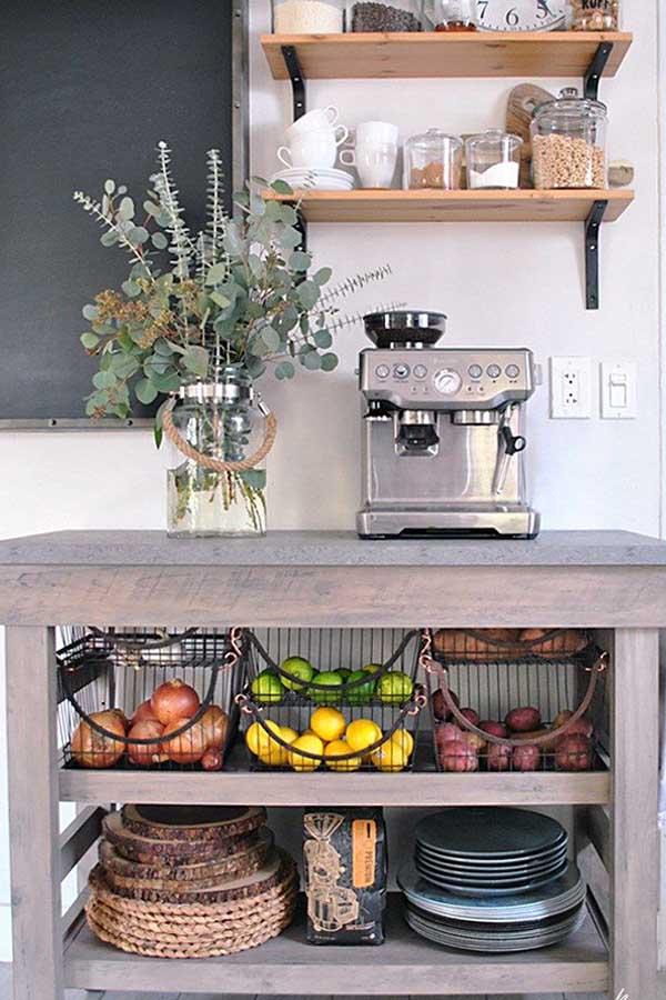 أجمل 20 تصميم لـ ركن القهوة كوفي كورنر وكوفي بار منزلي هذا العام ديكورات أرابيا Small Kitchen Kitchen Furniture Kitchen Remodel