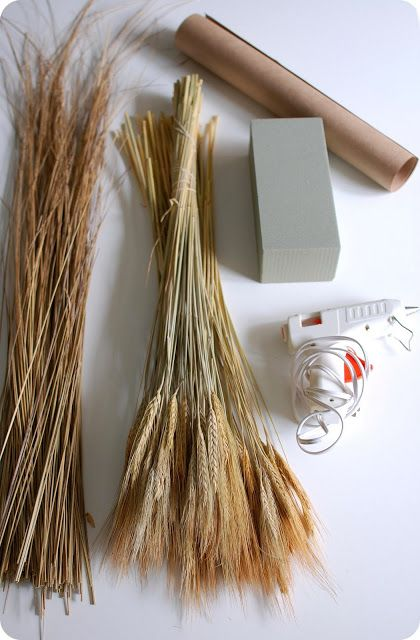 Fall Craft Wheat Bundle Tutorial With Images Wheat Bundle Wheat Decorations Fall Crafts