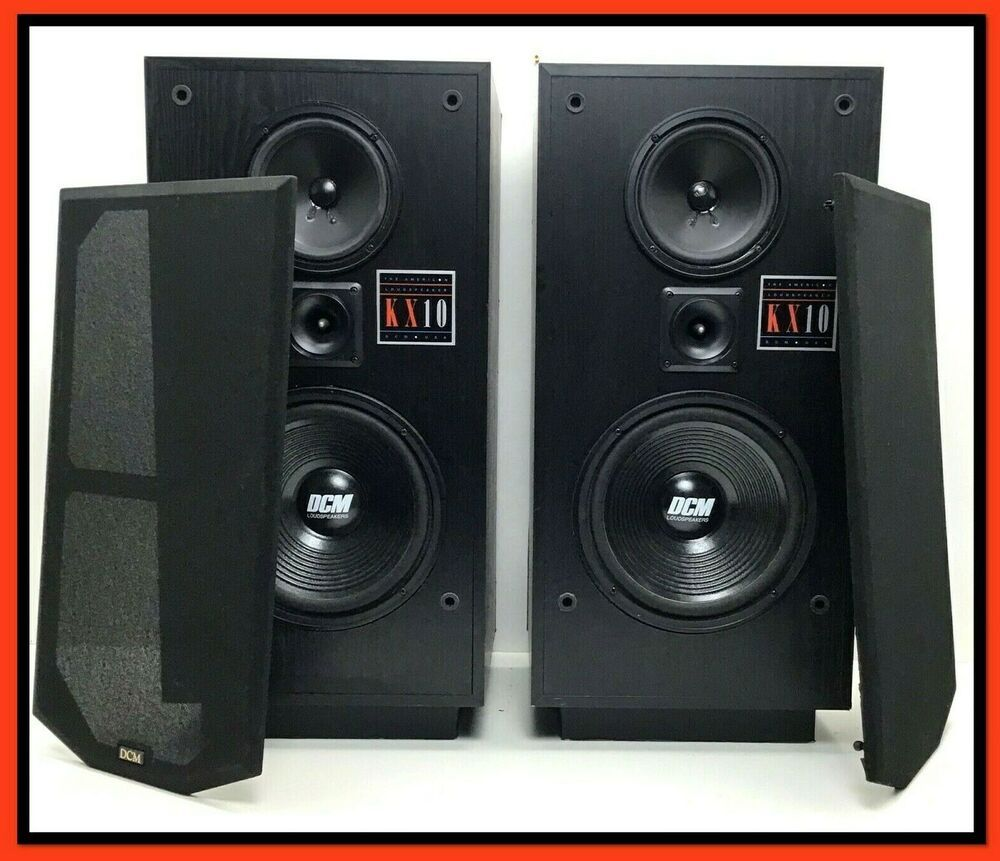 DCM KX10 SPEAKERS Pair Original Series, 3Way, KX10