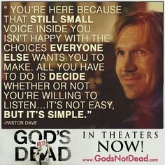 god's not dead movie quotes - Google Search
