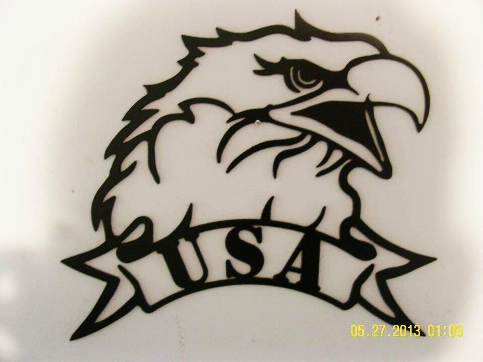 USA American Bald Eagle Metal Wall Art Small - patriotic