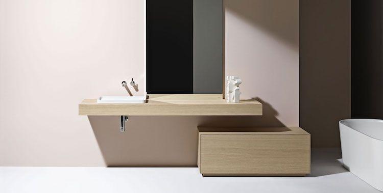 Badkamer Ideeen Hout : Badkamer ideeen inloopdouche met witte marmoleum vloer vers