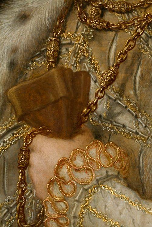 Gregory Fiennes, Baron Dacre (detail), 1559, by Hans Eworth (Flemish, 1620-74).