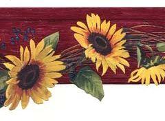 877719 Scalloped Sunflowers Wallpaper Border Clearance Quantities Limited Sunflower Wallpaper Wallpaper Border Wallpaper Border Kitchen