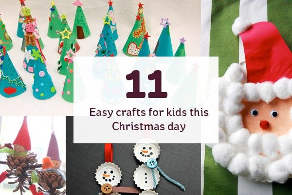 11 easy crafts for kids thsi christmas day