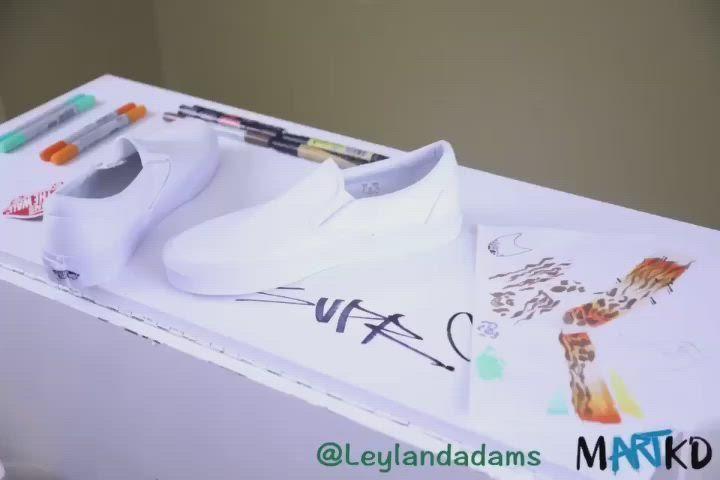 The details are in the process | Dope work @leylandadams . . . . #art #artist #sneakers @vanscanada @sharpie #torontoart #toronto