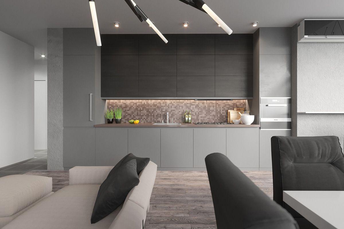 40 Gorgeous Grey Kitchens Modern Grey Kitchen Grey Kitchen Designs Grey Kitchen Floor